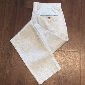 J. Crew White and Blue Pants
